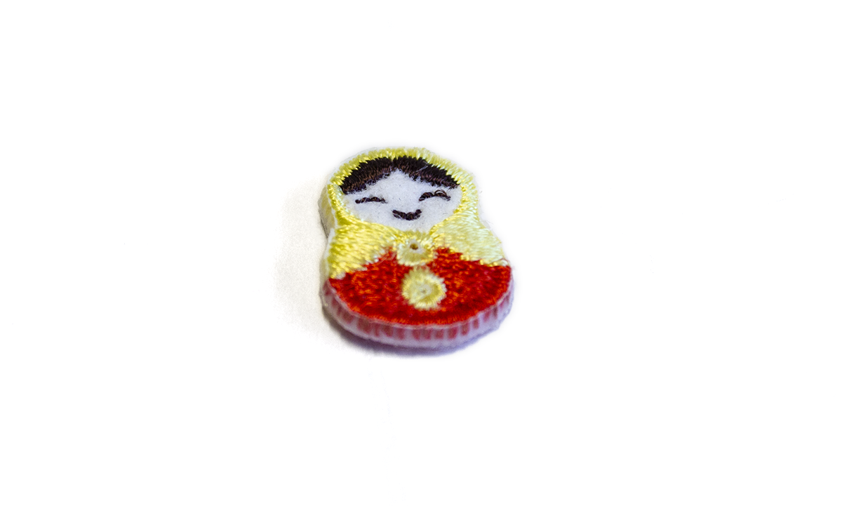 2 HOLE RUSSIAN DOLL FABRIC BUTTON