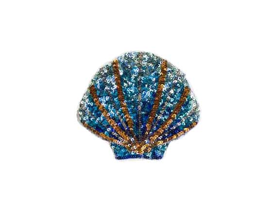 SEW ON SEQUIN SEASHELL PATCH