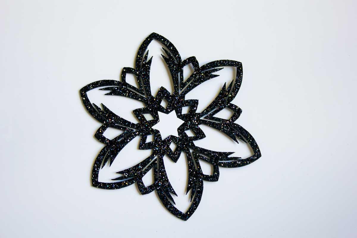 LASER CUT FLOWER PATCH – BLACK