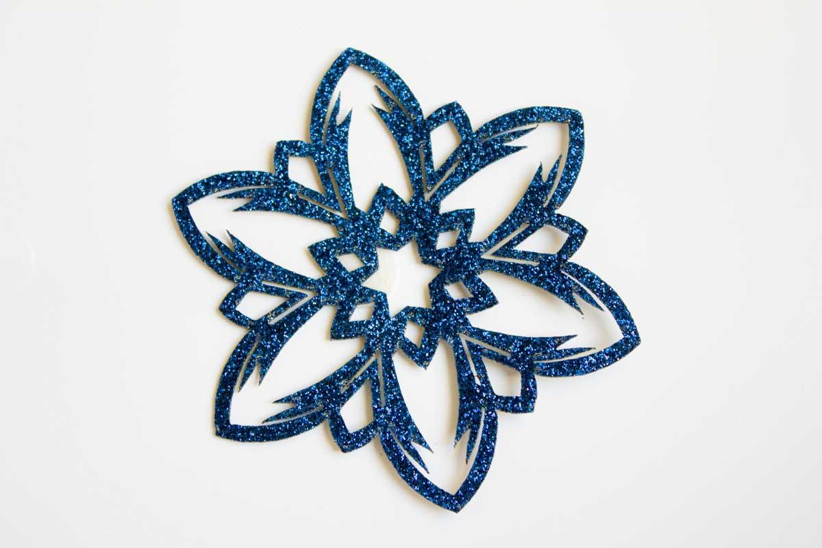 LAZER CUT FLOWER PATCH – BLUE