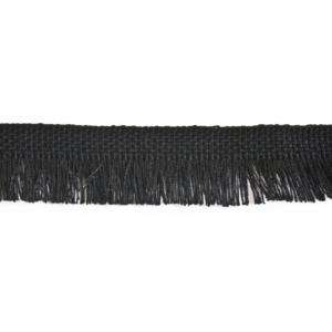 682.120201 black ribbon with fringe 2 cm
