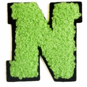 79CH3805B chenille letter N