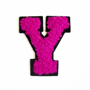 79CH3816B chenille letter Y