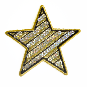 79SQ3349B GOLD SEQUIN STAR