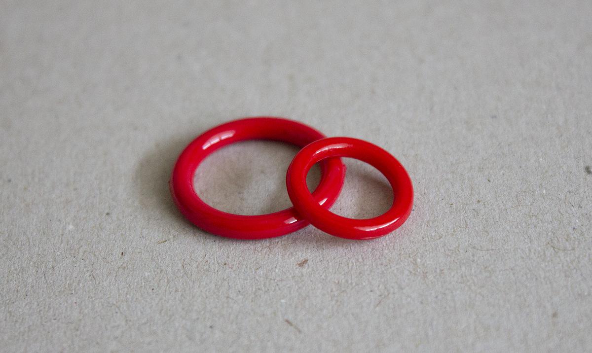 O-RING, RED