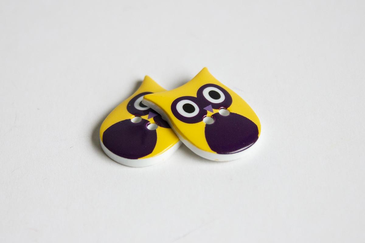 2 HOLE OWL BUTTON