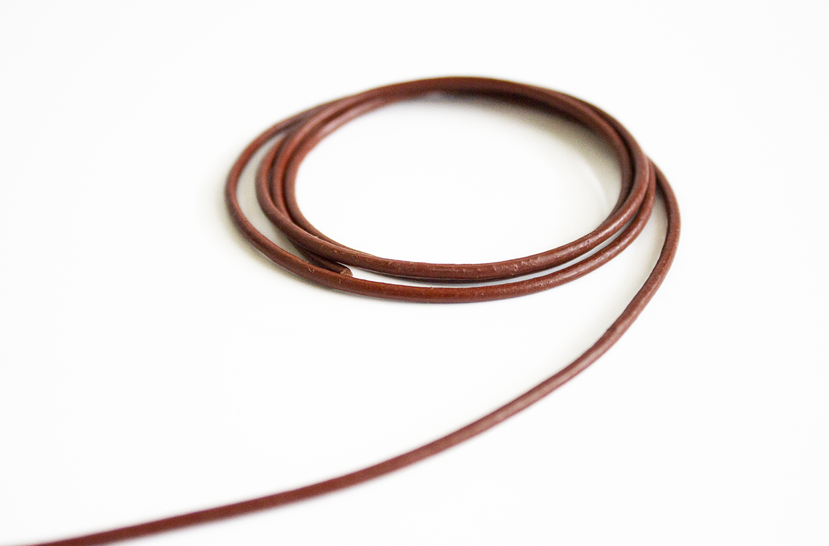 LEATHER STRING, ROUND – MANY COLORS AND SIZES