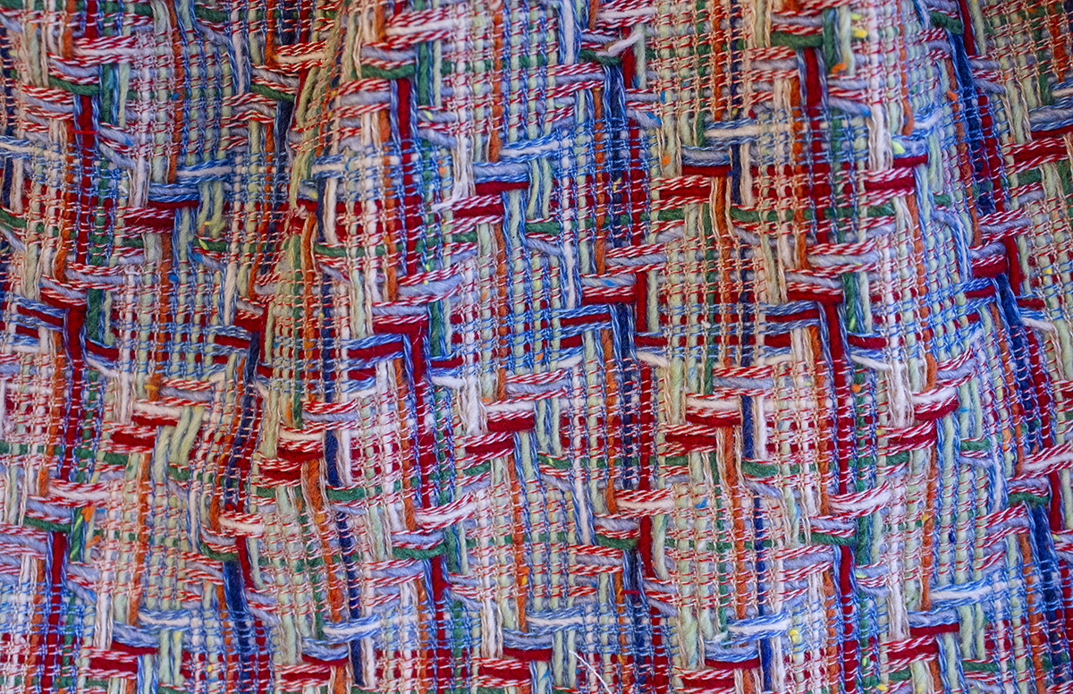MULTI COLORED WOOL JACQUARD