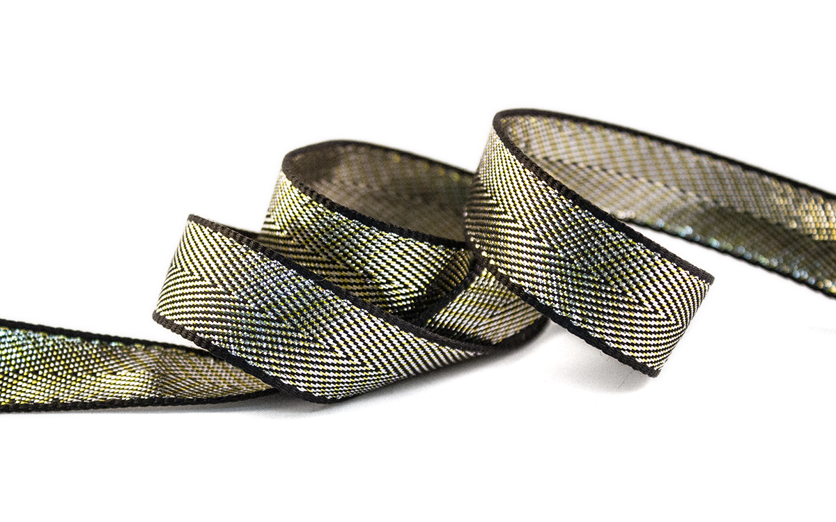 HERRINGBONE GOLD RIBBON