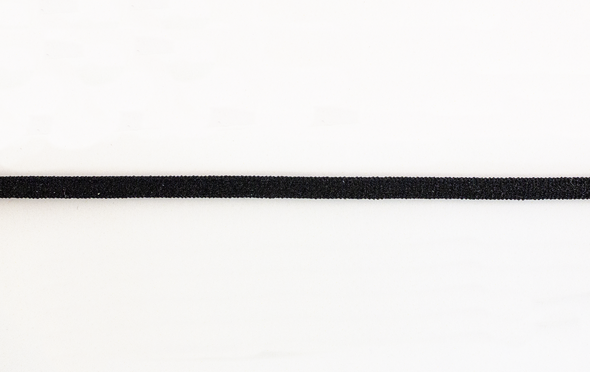 FLAT BLACK ELASTIC CORD