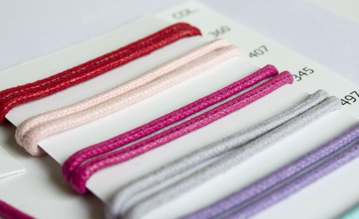 POLISHED COTTON CORD 1 MM + 2 MM – MANY COLORS