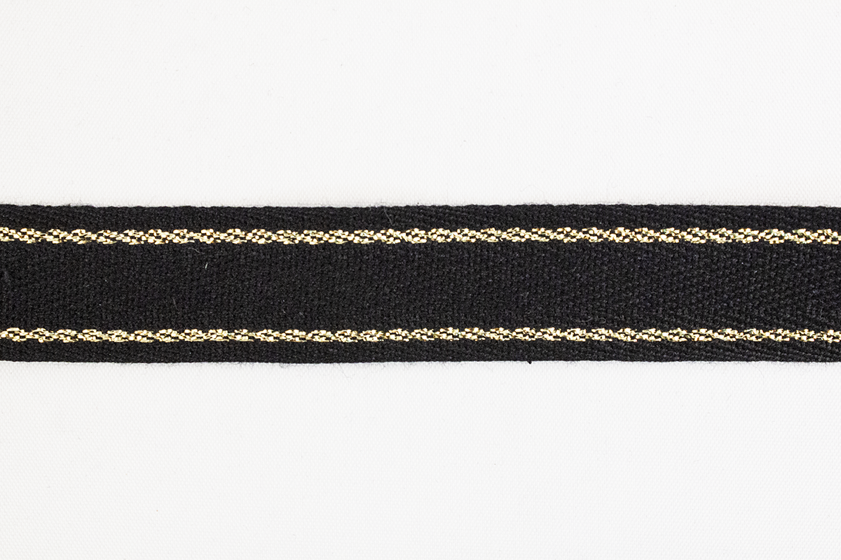 COTTON RIBBON W/ LUREX – BLACK
