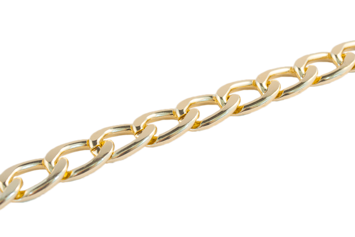 GOLD METAL CHAIN 15 MM