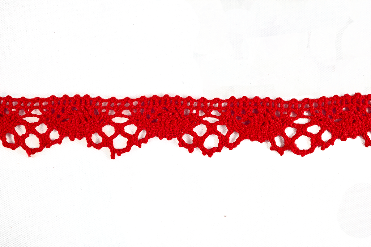 CROCHET LACE – RED