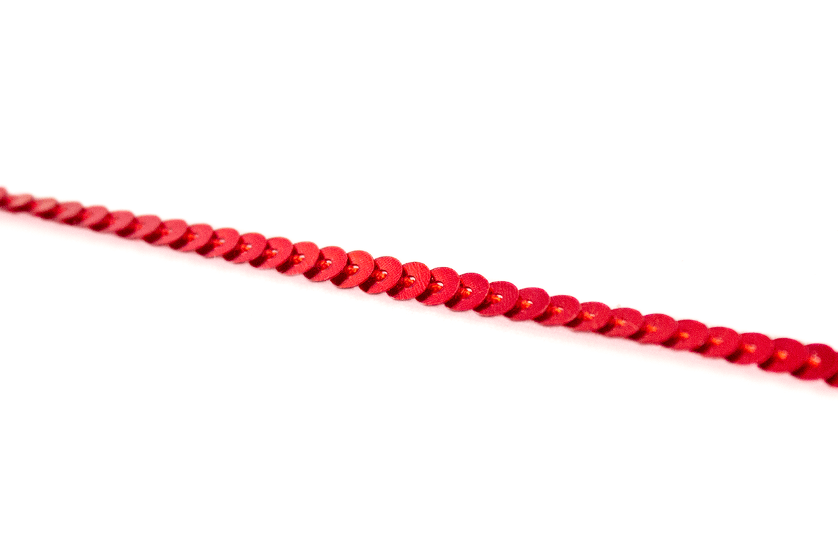 SEQUIN RIBBON – RED