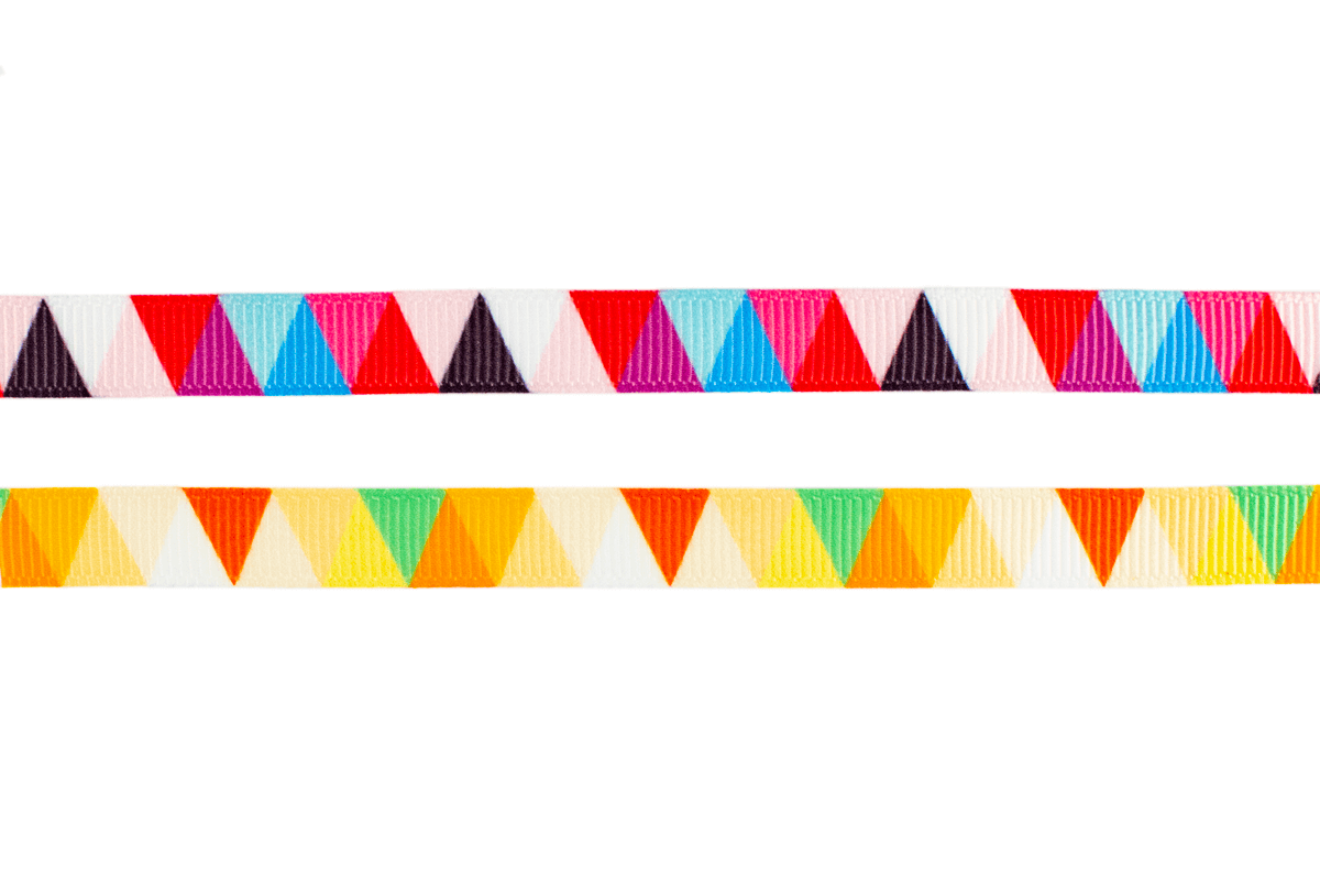 COLORFUL GROSGRAIN – 2 SIZES
